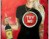 JEREMY WORST Try Me Jameson Whiskey Original Artwork Signed Print