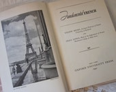 vintage Fundamental French, Micks and Longi, vintage 1940's Language Lesson Book, Textbook, Photographs, objet d'art