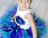 Baby Girls Birthday Tutu Dress Outfit  Gorgeous Peacock Birthday Tutu