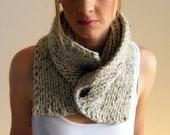 Chunky scarf cowl adjustable unisex warmer/ THE FREMONT/ Wheatland
