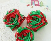 Roses Ribbon Flower Tutorial Classic Rose Pattern - fabric & ribbon Instructions  - Instant DOWNLOAD