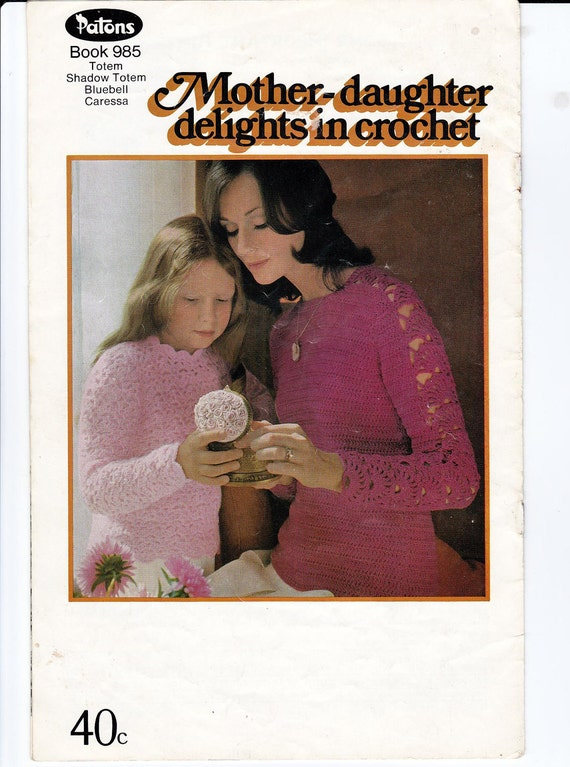 LOT of TWO Crochet Patterns Books 1960s Vintage Paper Patterns Patons 985 and 992 Boho Womens Mens Girls Patterns Crochet tops sweaters etc