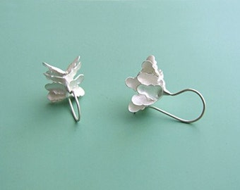 Earrings Silver leaf