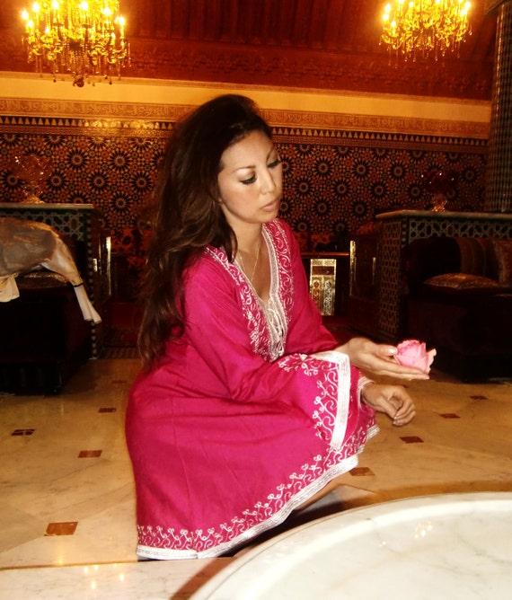 Pink Traditional Marrakech Tunic- Casual wear, loungewear, resortwear
