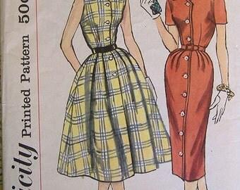 1950s Dress Pattern * Simplicity 2493 * size 20 Large * Uncut
