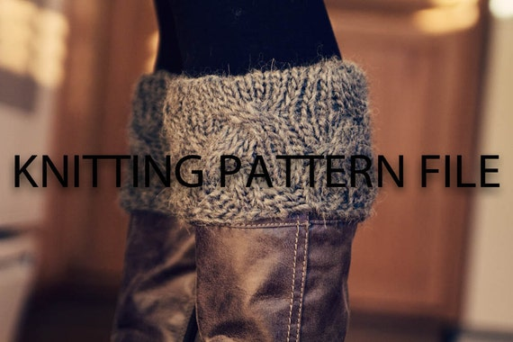 PDF File KNITTING PATTERN to knit your own boot cuffs