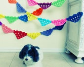Crochet Pattern Ornament PDF - bunting, necklace, applique, cake topper all with this PHOTO tutorial - Instant Download