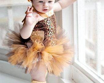 Hair Accessory for Cheetah Print Tutu Set, Halloween Costume, Parties, Photo Prop