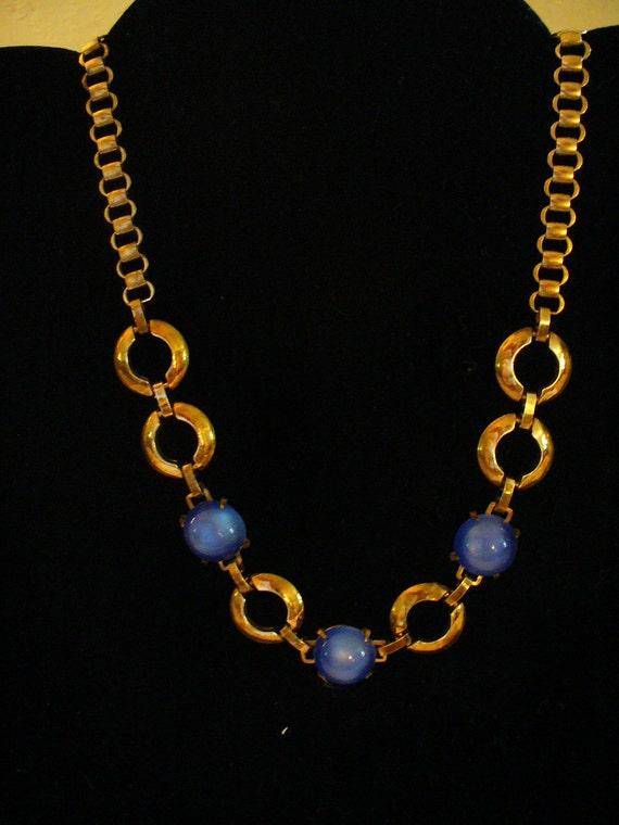 Vintage Gold Tone Chain Necklace, Vintage Necklace
