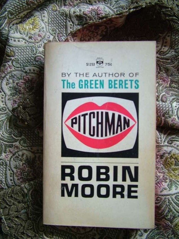 Robin Moore Pitchman, Television, Media, 1956 Paperback Book, TV Jungle