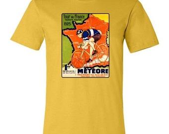 Bicycle T-shirt-Bicycle Gift-Vintage Bicycle- Tour de France 1925- Road Bike T-shirt.yellow,bike gift,bicycle gift,bike race tshirt