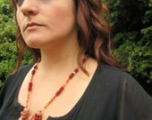 Desert Sunset: Carnelian and Turquoise Necklace