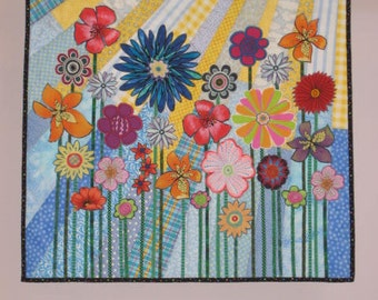 Whimsical Garden 3 wall quilt