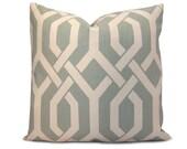 Robin Egg Blue Trellis Pillow Cover - Decorative Pillow - Throw Pillow - Accent Pillow - Square or Lumbar