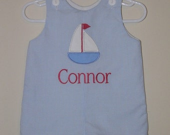 Custom made Personalized Monogrammed Sailboat Jon  Jon