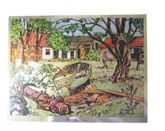 Color-Etch Print By Lionel Barrymore, Shoreside Farm  ID 006