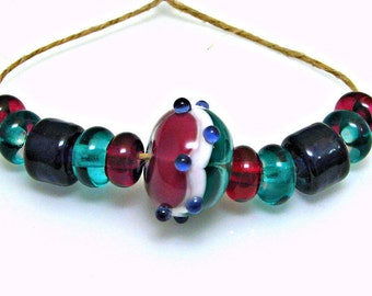 Jewel Suite Lampwork Bead Set
