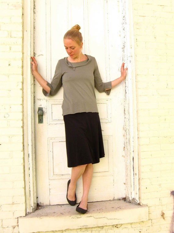 Matilda ~ Cowl Top ~ Bamboo & Organic Cotton ~ Made to Order