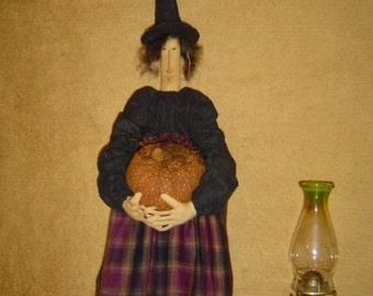 Doll ePattern Witch Halloween Halloween pumpkin crow