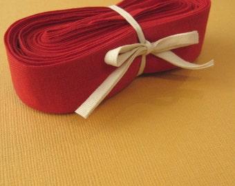 Wide Bias Binding Trim in Crimson Red