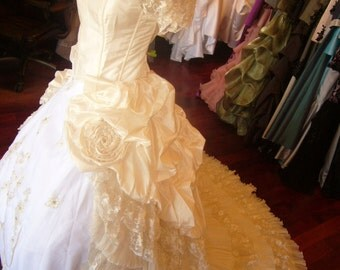 Marie Antoinette Wedding Dress Victorian Corset Bridal Gown Custom Made to your Measurements