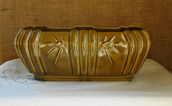 Mid Century Art Deco Usa Pottery Planter Dish Americana Mid