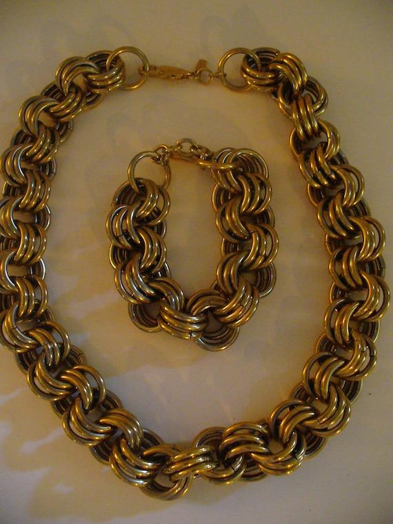 Vintage Monet Necklace and Bracelet, Vintage Monet, Monet Jewelry