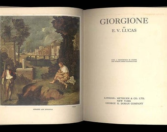 Giorgione by E. V. Lucas, Vintage Art Book, Little Books on Great Masters Published in England by Methuen Circa 1926
