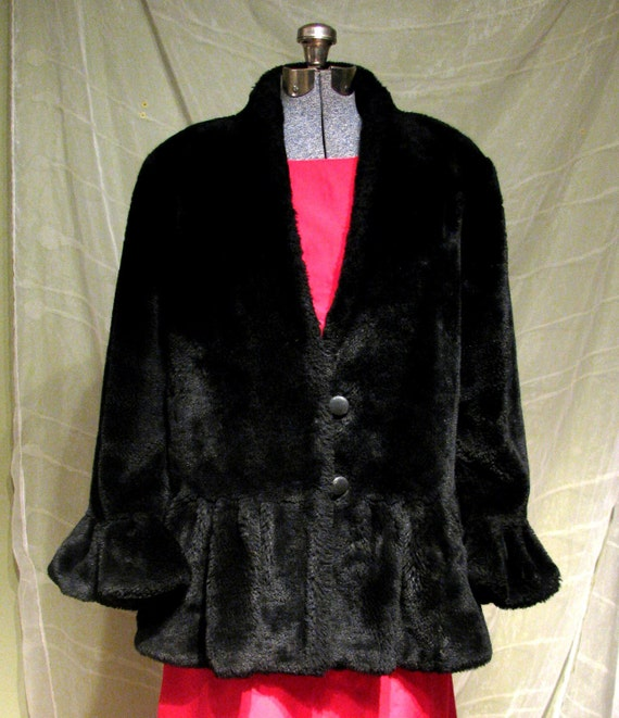 Warm up with hot deals this Fall! plus size excelled hooded faux-fur jacket, women's, size: 1xl, black for $ Was $