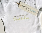made with love by baby bodysuit