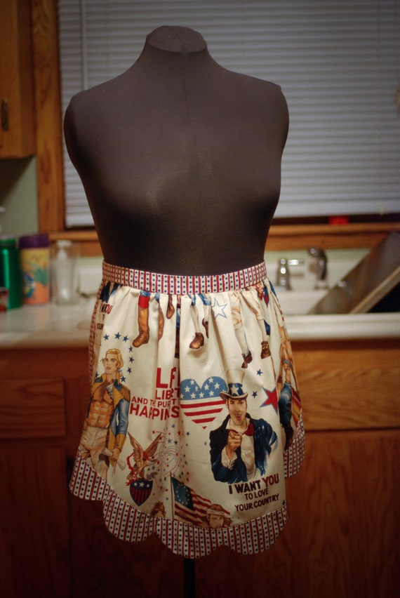 Pursuit of Happiness Pin Ups Fourth of July Apron