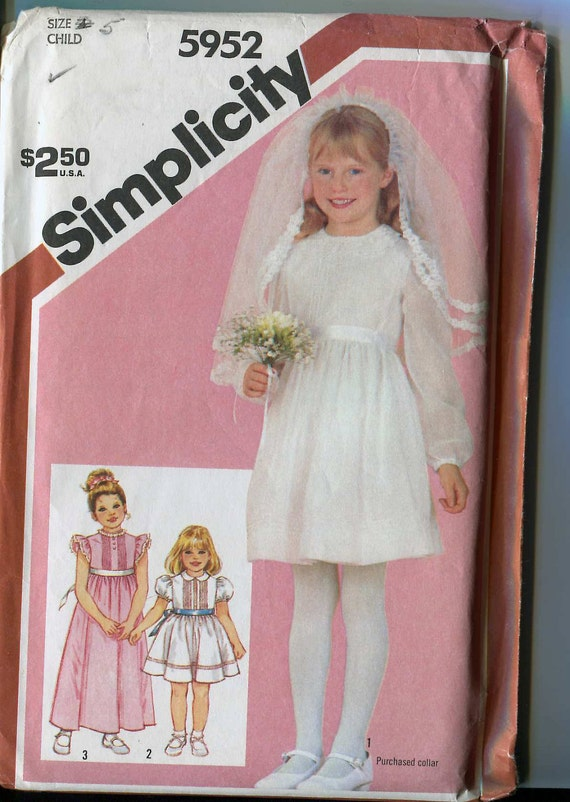 Simplicity 5952 First Communion Or Special Occasion Dress