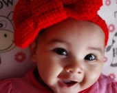 SALE 3 to 6m Big Red Bow Headband Baby Girl Headband Baby Headband Infant Girl Red Headband Infant Prop Photo Prop Gift Costume  Labor Day