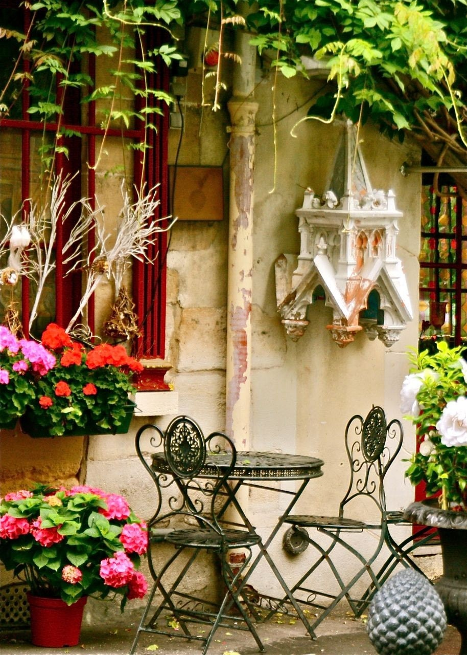 Paris Print Cafe Photo Parisian Home Decor Colorful