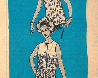 4558 1960's Women's BlouseSewing Pattern Anne Adams Mail Order 4558 Bust 36
