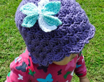 Crochet Pattern PDF - Shells & Ruffles Dragonfly Cloche - Newborn to Adult Sizes