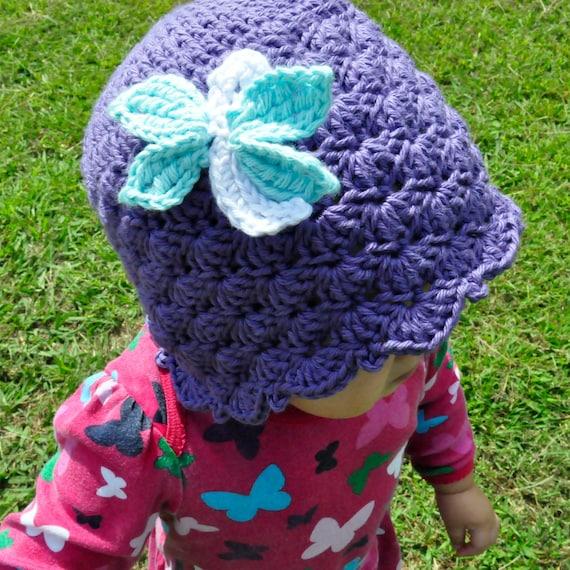 Crochet Pattern PDF - Shells & Ruffles Dragonfly Cloche - Newborn to Adult Sizes