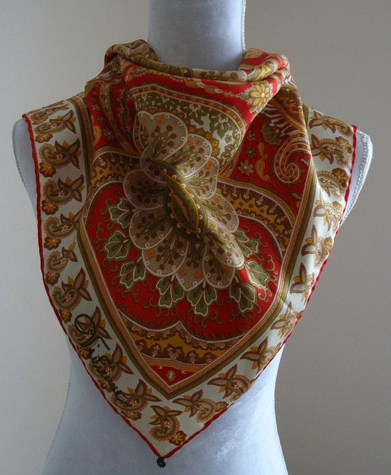 vintage scarf vintage scarves paisley scarf silk scarf