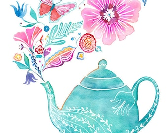 PRINT / Blooming Tea