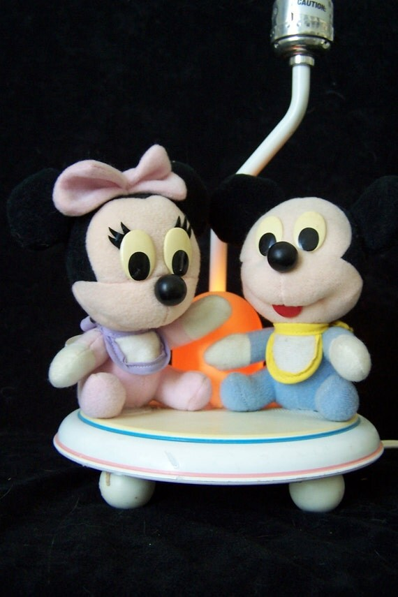 mickey mouse lamp 1960s babys room minnie by. Black Bedroom Furniture Sets. Home Design Ideas