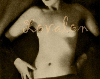 MATURE... 1920's Vamp... Instant Digital Download... Vintage Nude Fashion Photo Image by Lovalon