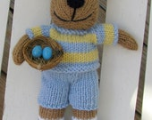 Knitted Toy - Hand Knitted Bunny Stuffed Animal - Plush Knitted Toy - Kids Toy - Plush Doll - Kids Gift - Stuffed Bunny - Child Toy Jonathan