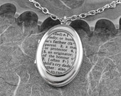 Father Definition Locket Necklace - A Dad's Love by COGnitive Creations