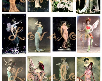Fantasy Fairyland... Instant Digital Download... Vintage Erotic Photo Image Collection by Lovalon