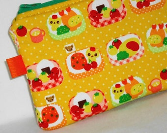 Happy Chihuahau Bento Chef Padded Zippered Pouch --- Yellow (Camera / IPod / Cell Phone Case)