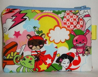 Japanimation Harajuku Padded Zippered Pouch --- Multi (Camera / IPod / Cell Phone Case)