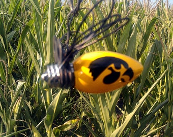 Hanging Firefly Christmas Ornaments Iowa Hawkeye Made in Iowa Free Shipping