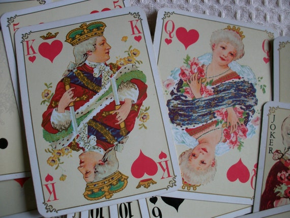 Reserved for DEE - please do not buy     Vintage French Playing Cards Fabulous Louis XV Style