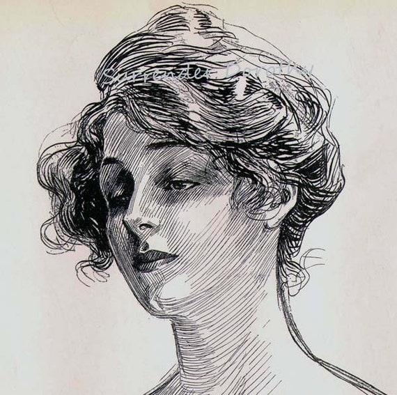 Charles Dana Gibson Feminine Study 1906 Gibson By