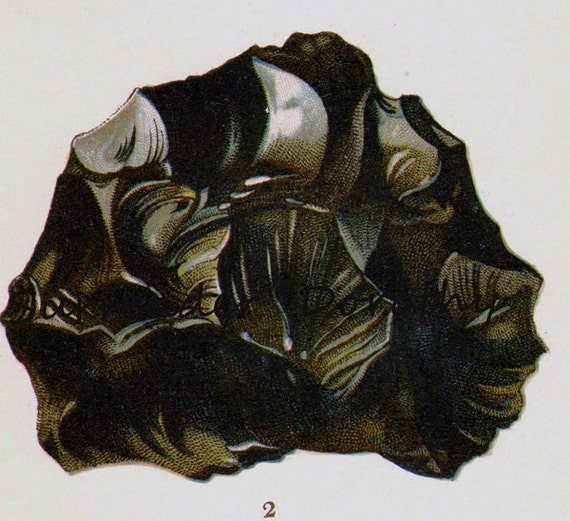 Anthracite Coal Hard & Soft Fuel Stone Mineral Vintage Lithograph Edwardian Geology Print To Frame 40